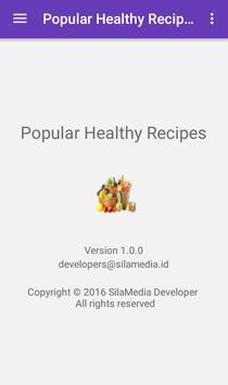 Popular healthy recipes apk screenshot