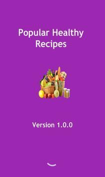 Popular healthy recipes poster
