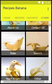Recipes Banana apk screenshot