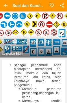 Soal & Kunci Jawaban Ujian SIM apk screenshot
