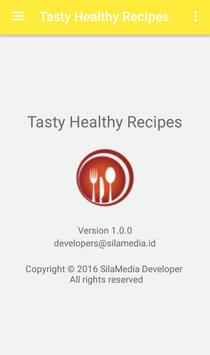 Tasty healthy recipes apk screenshot