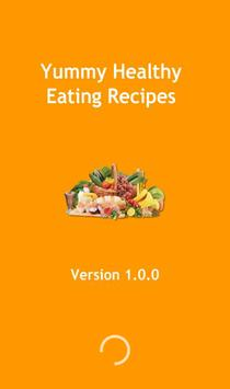 Yummy healthy eating recipes poster