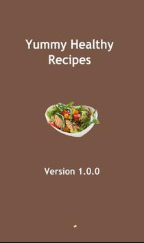 Yummy healthy food recipes poster