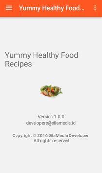 Yummy healthy food recipes apk screenshot