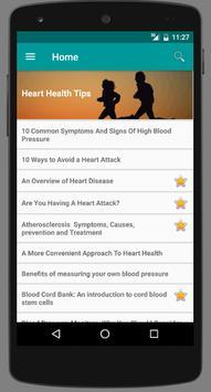 Heart Health Tips poster