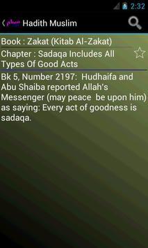 Hadith Muslim in English apk screenshot