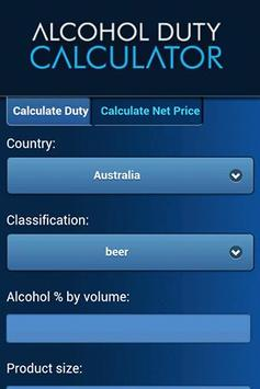 Alcohol Duty Calculator poster