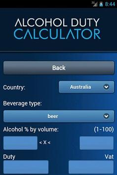 Alcohol Duty Calculator apk screenshot