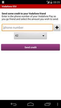 Vodafone IOU apk screenshot