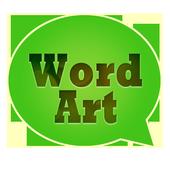 WordArt Chat Sticker icon