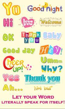 WordArt Chat Sticker poster