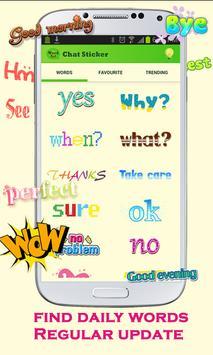 WordArt Chat Sticker apk screenshot