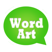 WordArt Chat Sticker W icon