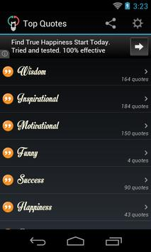 Top Quotes (Wisdom-Motivation) apk screenshot