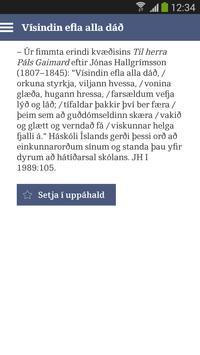 Orð í tíma töluð poster