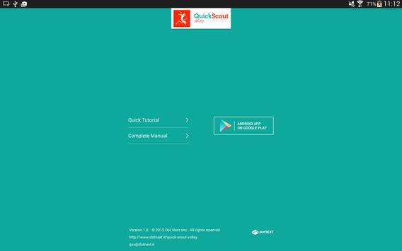 Quick Scout Volley User Manual apk screenshot