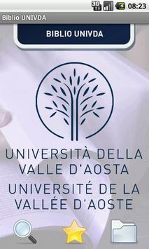 Biblio UniVdA poster