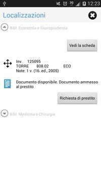 UniBS Library apk screenshot