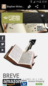 Stephen Writer Website apk screenshot
