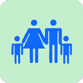 Contacts and family icon