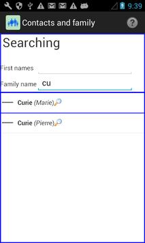 Contacts and family apk screenshot