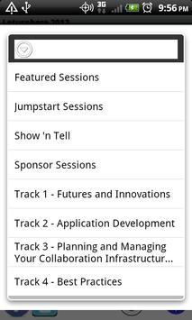 Lotusphere 2012 Scheduler apk screenshot