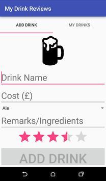 My Drink Reviews apk screenshot