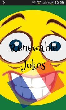 les blagues renouvelables poster