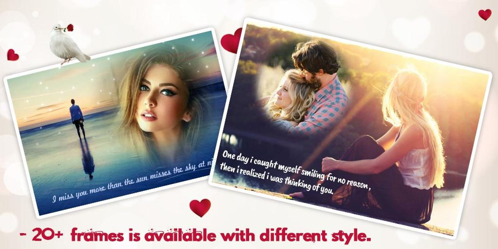 miss you photo frame apk screenshot