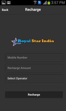 Royal Star India Recharge App apk screenshot