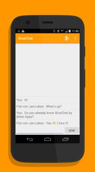 BlueChat. Chat via Bluetooth. poster