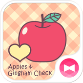 Apples & Gingham Check Theme icon