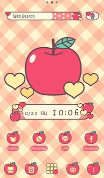 Apples & Gingham Check Theme poster