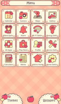 Apples & Gingham Check Theme apk screenshot