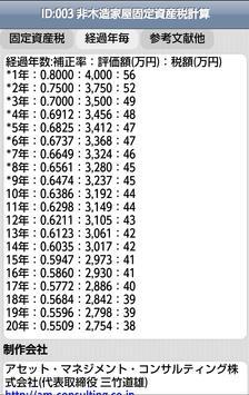 ID:003 非木造家屋固定資産税計算 apk screenshot