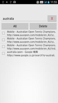 Search Web History apk screenshot