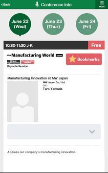 Manufacturing World Japan 2016 apk screenshot