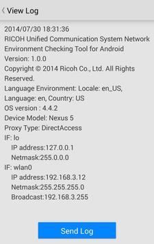 RICOH UCS Network Check Tool apk screenshot
