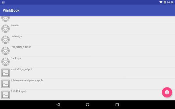 手を使わず読書 WinkBook apk screenshot