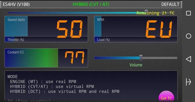 ES4HV (OBD2/ELM327 Sound HV) apk screenshot