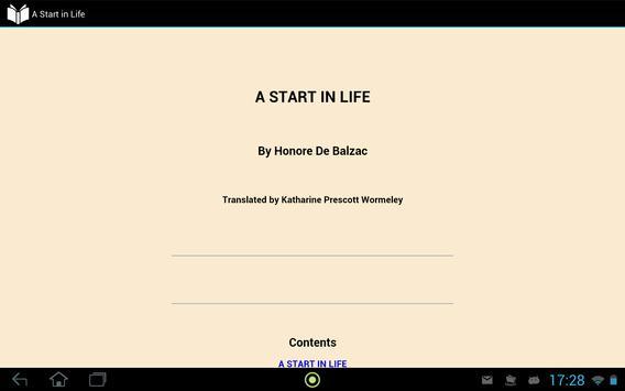 A Start in Life apk screenshot