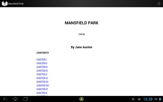 Mansfield Park apk screenshot