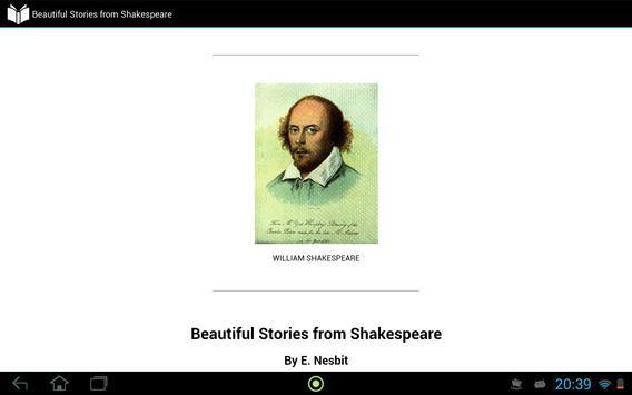 Shakespeare, Beautiful Stories apk screenshot