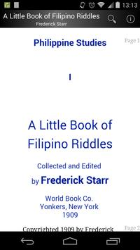 A Book of Filipino Riddles poster
