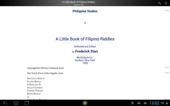 A Book of Filipino Riddles apk screenshot