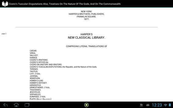 Cicero's Tusculan Disputations apk screenshot