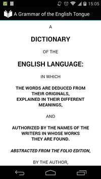 Dictionary of English Language poster