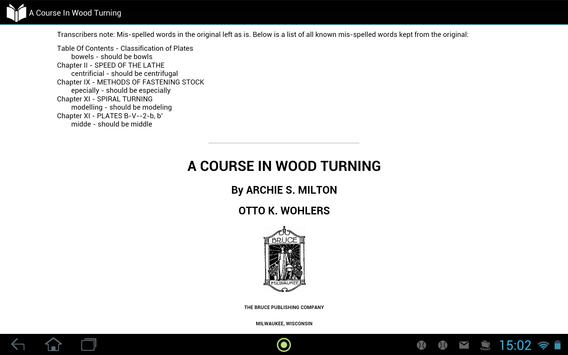 A Course In Wood Turning apk screenshot