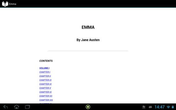 Emma by Jane Austen apk screenshot