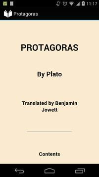 Protagoras by Plato poster
